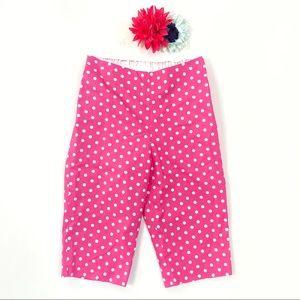 Helena pink white polka dot pants flower headband